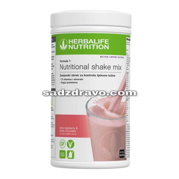 rbalife Formula 1 bez soje, glutena i sadrži protein graška.